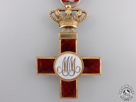 1st Class Cross (red distinction) (gold) (Jolo) Reverse