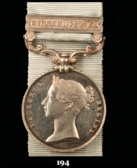 """Army of India Medal (with """"KIRKEE AND POONA"""" clasp)"""