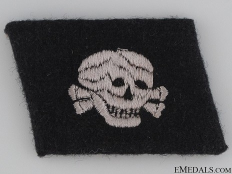 Waffen-SS 'Totenkopf' Division NCO/EM Collar Tab (Horizontal pattern) Obverse