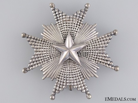 Commander Grand Cross Breast Star (with silver) Obverse