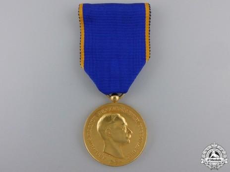 "Gold Merit Medal (stamped ""F. RASUMNY,"" 1927-) Obverse"