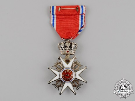 Order of St. Olav, Knight II Class, Military Division Reverse