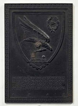 Honour Plaque of the 21st Luftwaffe Field Division Obverse