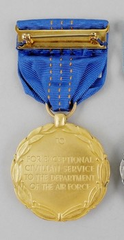 Department of the Air Force Decoration for Exceptional Civilian Service Reverse