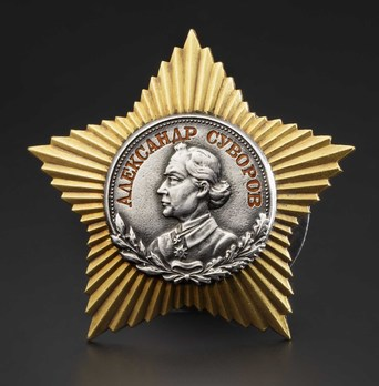 Order of Suvorov II Class Medal Obverse