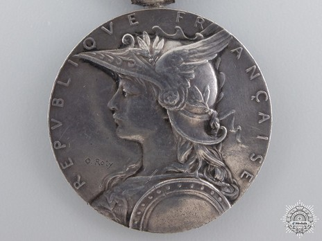 """Silver Medal (with """"1895"""" clasp, stamped """"O.ROTY"""") Obverse"""