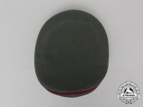 German Army Smoke & Chemical Officer's Visor Cap Top