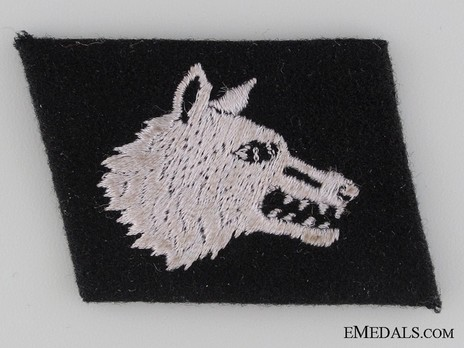 Waffen-SS 2nd Russian Division Wolf's Head Collar Tab Obverse