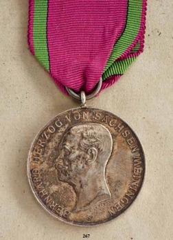 Saxe-Meiningen House Order Medals of Merit, Type VI, in Silver
