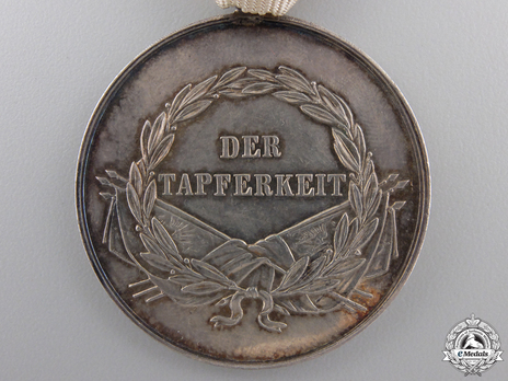 Type VIII, I Class Silver Medal (with ring suspension) Reverse