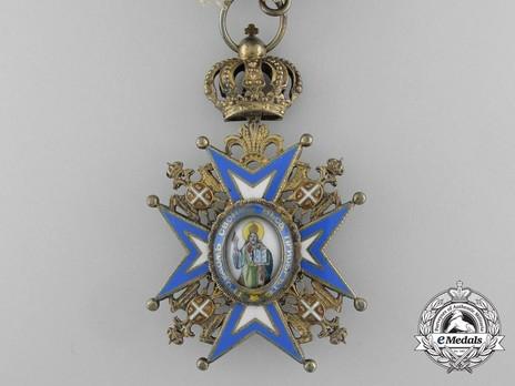 Order of Saint Sava, Type III, IV Class Obverse