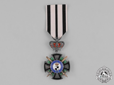 House Order of Hohenzollern, Type II, Military Division, III Class Honour Cross (with crown and swords) obverse