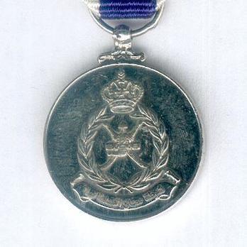 Miniature Silver Medal ObverseMiniature Royal Oman Police Meritorious Service Medal Obverse