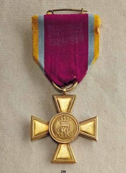 Long Service Cross for Officers, Gold for 30 Years (in gold)