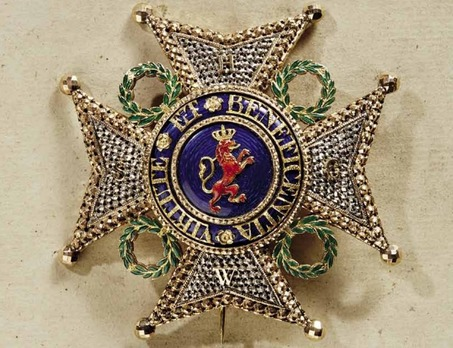 Order of the Lion of Limburg, Grand Cross Breast Star