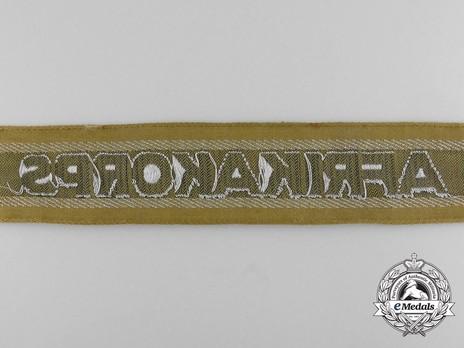 German Army Afrika Cuff Title (1st version) Reverse