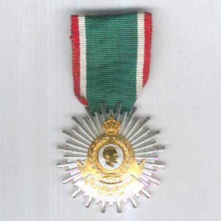 Silvered medal obv