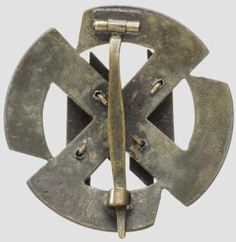 SS Germanic Proficiency Runes Badge, in Bronze Reverse