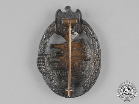 Panzer Assault Badge, in Silver, by B. H. Mayer Reverse
