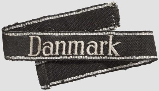 Waffen-SS Danmark Cuff Title (RZM machine-embroidered version) Obverse