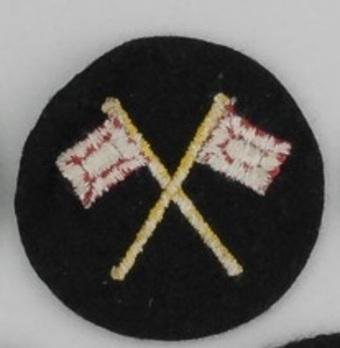Kriegsmarine Enlisted Men Signal Insignia Reverse