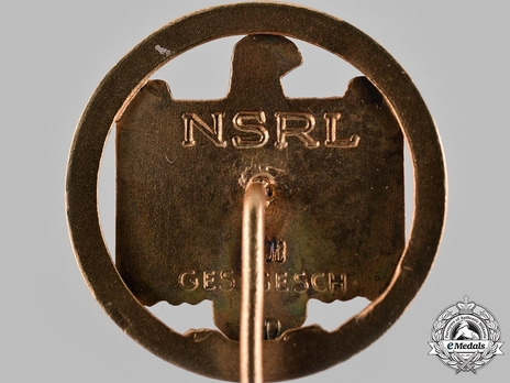Badge of the DRL and NSRL, in Gold (with date) Reverse