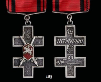 Order of the Cross of Vytis, Type I, Military Division, III Class Cross