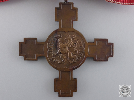 "Cross for the Proclamation of the Kingdom, 1908 (for Women and stamped ""P.TELGE"") Reverse"