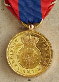 Merit Medal in Gold, Type II