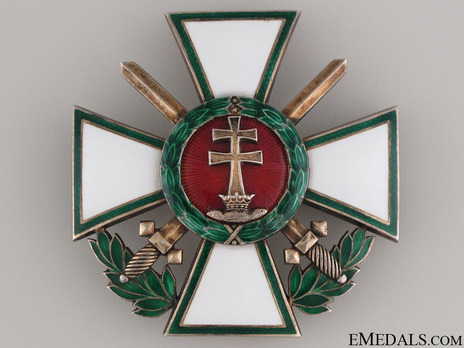 Hungarian Order of Merit, Officer, Military Division (with War Decoration) Obverse