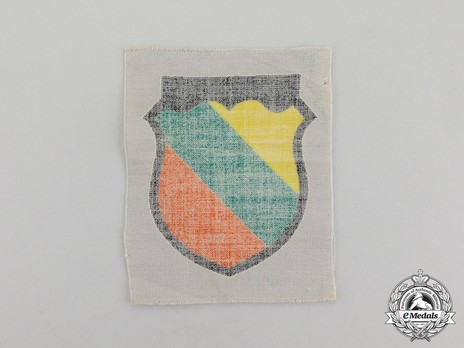 German Army Lithuania Sleeve Insignia Reverse