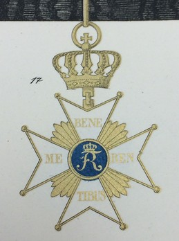 Order of Civil Merit, Grand Cross Reverse