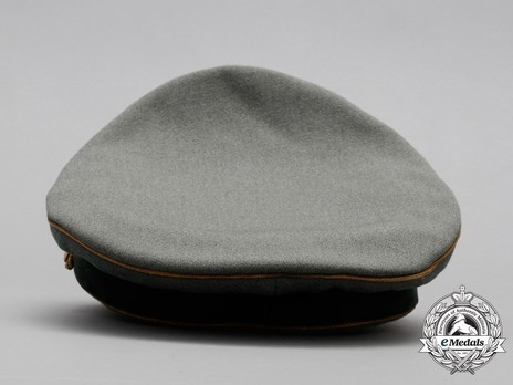 German Army General's Post-1943 Visor Cap (with cloth insignia) Back