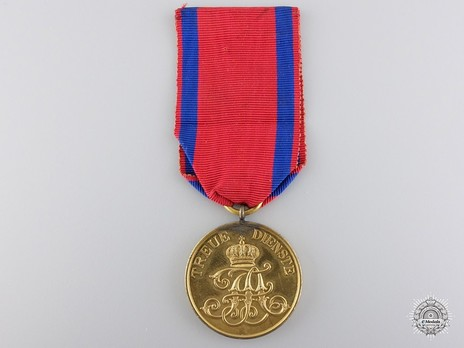 Gold Medal for 12 Years Obverse