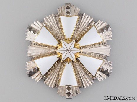 Order of the White Star, I Class Breast Star Obverse