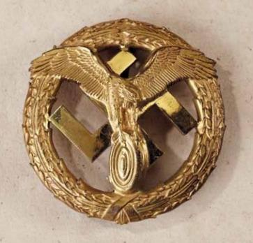 German Motor Sports Badge, in Gold Obverse