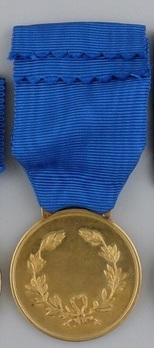 Medal of Military Valour, in Gold Reverse