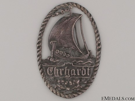 Marine Brigade Ehrhardt Sleeve Insignia (in silvered tombac) Obverse