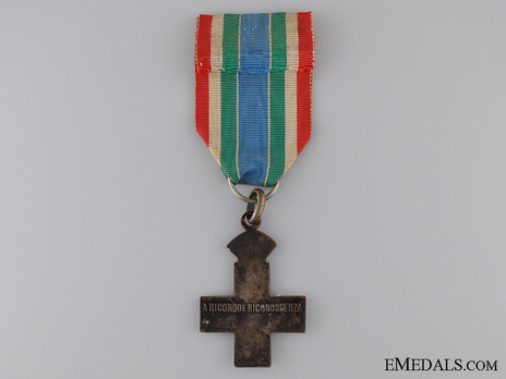 """Silver Cross (stamped """"L. FASSINO TORINO"""", with silvered bronze) Reverse"""
