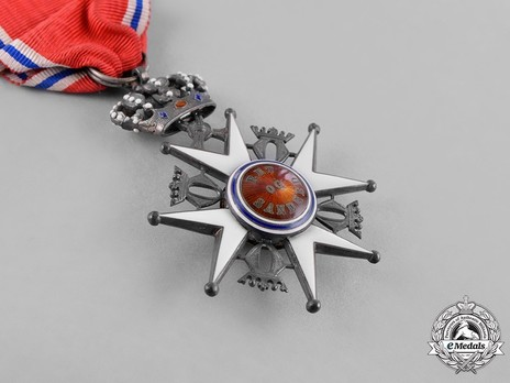 Order of St. Olav, Knight II Class, Civil Division Reverse