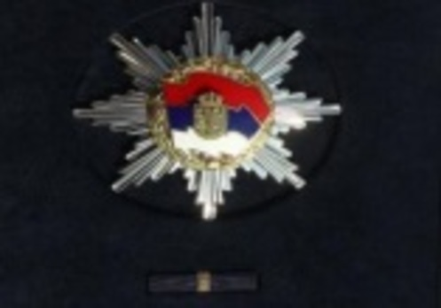 Order of the Serbian Flag, I Class Breast Star Obverse