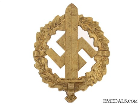 SA Sports Badge, Type I, in Gold Obverse