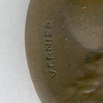 """Bronze Medal (stamped """"VERNIER"""") Obverse Detail"""
