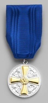 Order of the White Rose, Type I, Civil Division, I Class Silver Medal (with gold cross) Obverse