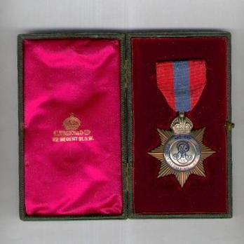 Medal (for Men, 1902-1911)  in Case of Issue