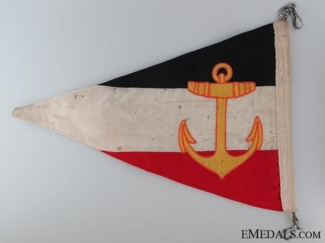 Kriegsmarine Division Commander Pennant Reverse