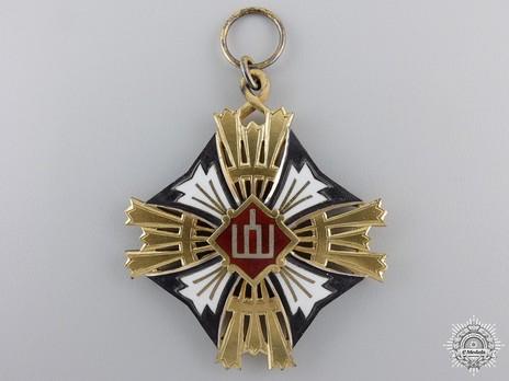 Order of Gediminas, Type II, I Class Cross Obverse