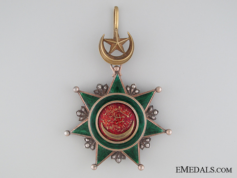 Order of Osmania, Civil Division, III Class Obverse