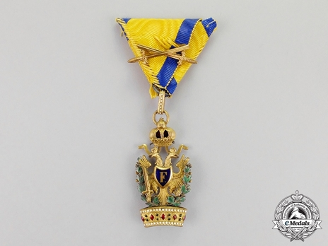 Order of the Iron Crown, Type III, Military Division, III Class (with gold swords)