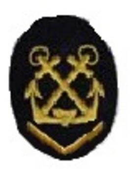 Kriegsmarine Obermaat Helmsman/Coxswain Insignia (embroidered) Obverse